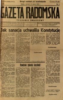 Gazeta Radomska : Tygodnik Narodowy, 1935, R. 2, nr 13a