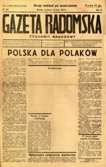 Gazeta Radomska : Tygodnik Narodowy, 1935, R. 2, nr 19a