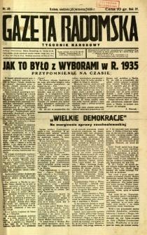 Gazeta Radomska : Tygodnik Narodowy, 1938, R. 4, nr 39