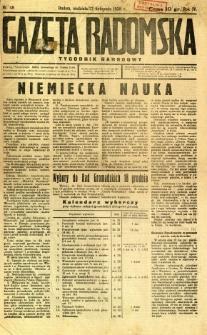 Gazeta Radomska : Tygodnik Narodowy, 1938, R. 4, nr 48