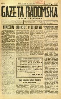 Gazeta Radomska : Tygodnik Narodowy, 1938, R. 4, nr 51