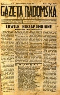 Gazeta Radomska : Tygodnik Narodowy, 1939, R. 5, nr 4