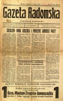 Gazeta Radomska : Tygodnik Narodowy, 1939, R. 5, nr 21