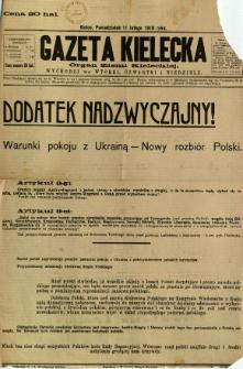 Gazeta Kielecka, 1918, R. 47, dodatek nadzwyczajny