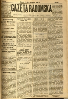 Gazeta Radomska, 1890, R. 7, nr 95