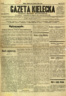 Gazeta Kielecka, 1918, R. 47, nr 187