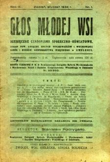 Głos Młodej Wsi, 1934, R. 3, nr 1