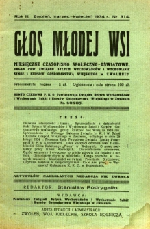 Głos Młodej Wsi, 1934, R. 3, nr 3/4
