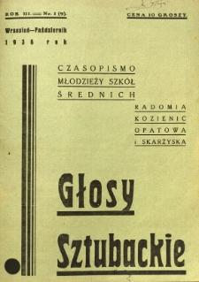 Głosy Sztubackie, 1936, R. 3, nr 1