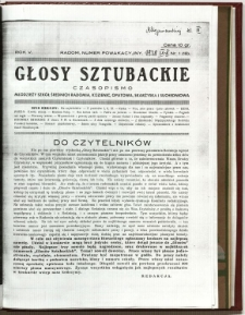 Głosy Sztubackie, 1938, R. 5, nr 1