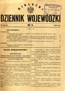 Kielecki Dziennik Wojewódzki, 1929, nr 3