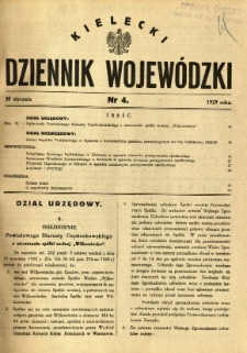 Kielecki Dziennik Wojewódzki, 1929, nr 4