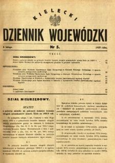 Kielecki Dziennik Wojewódzki, 1929, nr 5