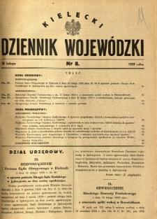 Kielecki Dziennik Wojewódzki, 1929, nr 8