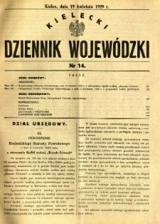 Kielecki Dziennik Wojewódzki, 1929, nr 14