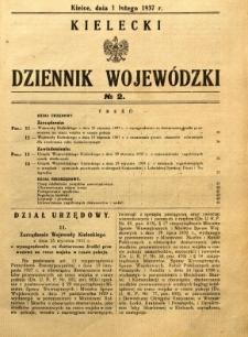 Kielecki Dziennik Wojewódzki, 1937, nr 2