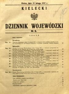 Kielecki Dziennik Wojewódzki, 1937, nr 3