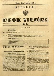 Kielecki Dziennik Wojewódzki, 1937, nr 4