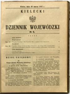 Kielecki Dziennik Wojewódzki, 1937, nr 5
