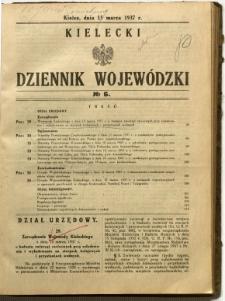 Kielecki Dziennik Wojewódzki, 1937, nr 6