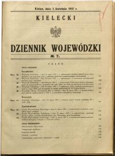 Kielecki Dziennik Wojewódzki, 1937, nr 7