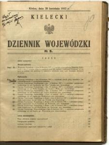 Kielecki Dziennik Wojewódzki, 1937, nr 9