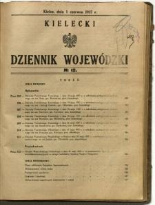 Kielecki Dziennik Wojewódzki, 1937, nr 12