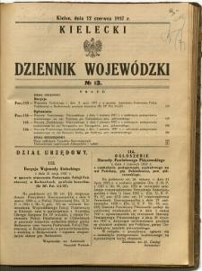 Kielecki Dziennik Wojewódzki, 1937, nr 13