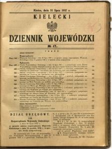 Kielecki Dziennik Wojewódzki, 1937, nr 17