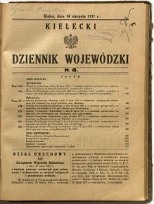Kielecki Dziennik Wojewódzki, 1937, nr 18
