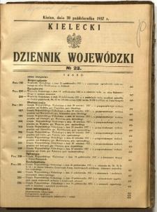 Kielecki Dziennik Wojewódzki, 1937, nr 23