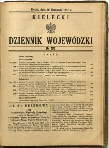 Kielecki Dziennik Wojewódzki, 1937, nr 25