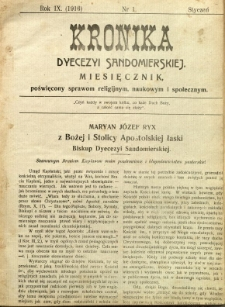 Kronika Diecezji Sandomierskiej, 1916, R. 9, nr 1
