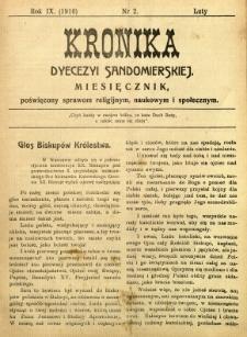 Kronika Diecezji Sandomierskiej, 1916, R. 9, nr 2