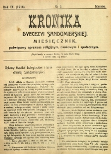 Kronika Diecezji Sandomierskiej, 1916, R. 9, nr 3