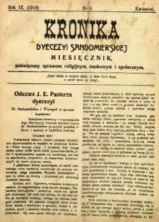 Kronika Diecezji Sandomierskiej, 1916, R. 9, nr 4