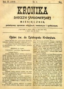 Kronika Diecezji Sandomierskiej, 1916, R. 9, nr 5