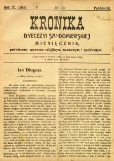 Kronika Diecezji Sandomierskiej, 1916, R. 9, nr 10