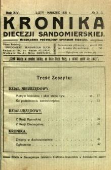 Kronika Diecezji Sandomierskiej, 1921, R. 14, nr 2/3