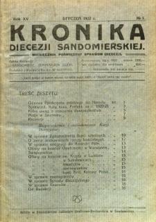 Kronika Diecezji Sandomierskiej, 1922, R. 15, nr 1