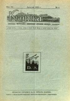 Kronika Diecezji Sandomierskiej, 1922, R. 15, nr 4