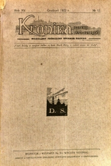 Kronika Diecezji Sandomierskiej, 1922, R. 15, nr 12