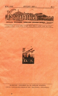 Kronika Diecezji Sandomierskiej, 1925, R. 18, nr 1