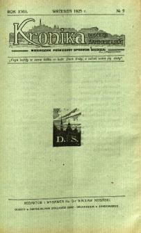 Kronika Diecezji Sandomierskiej, 1925, R. 18, nr 9