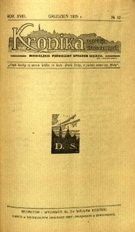 Kronika Diecezji Sandomierskiej, 1925, R. 18, nr 12