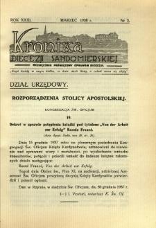 Kronika Diecezji Sandomierskiej, 1938, R. 31, nr 3
