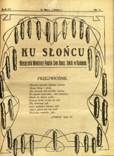 Ku Słońcu, 1929, R. 4, nr 7