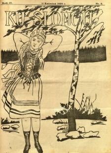 Ku Słońcu, 1929, R. 4, nr 8