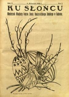 Ku Słońcu, 1930, R. 5, nr 7