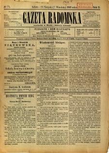 Gazeta Radomska, 1885, R. 2, nr 71